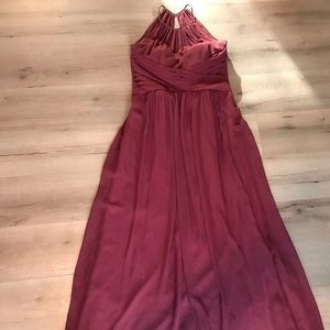 Bill Levkoff Maroon Bridal Dress